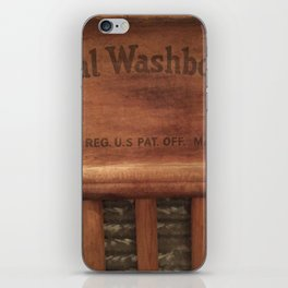 Antique washboard iPhone Skin