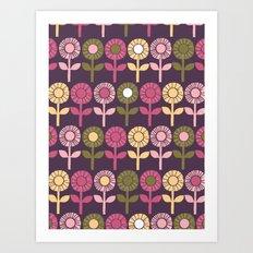 Lino Cut Flower Art Print