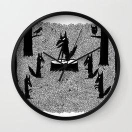 The Wolf King Wall Clock