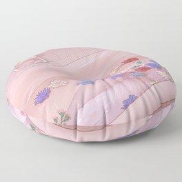 Flower Bath 9 Floor Pillow