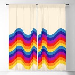 Wavy retro rainbow Blackout Curtain