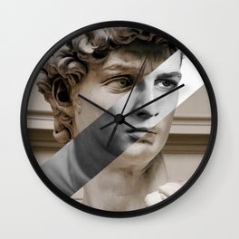 Michelangelo's David & Marlon Brando Wall Clock