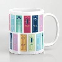 doors Mugs featuring Doors by Luciana Brasil