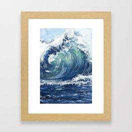 Kai's Wave Framed Art Print