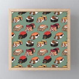Sushi  Basset Hound Framed Mini Art Print