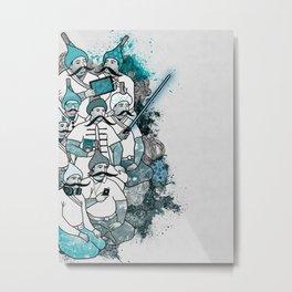 Mustache Mafia Metal Print