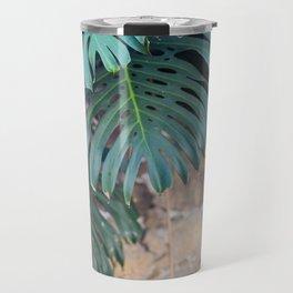 Monstera Print, Tropical Green Beauty Travel Mug