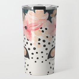 Flower Crown Leopard Travel Mug