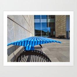 Colors of Ozyegin - Blue Art Print