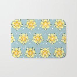 Summer Citrus and Blossoms Bath Mat