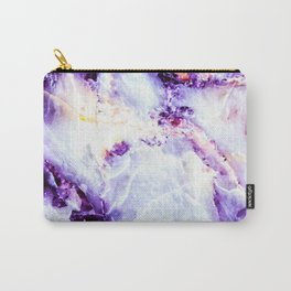 Abstract marble purple colorful Carry-All Pouch