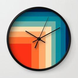 Retro 80s Geometric  Wall Clock
