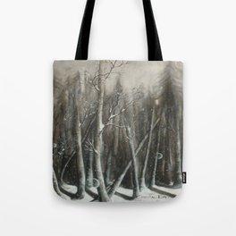 Winter Bubbles ~ Original Art Tote Bag
