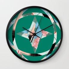 Abstract Brushstroke Circles Wall Clock
