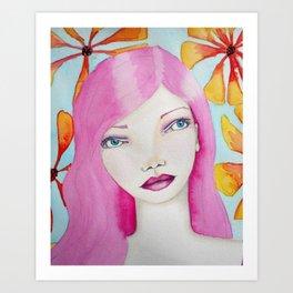 Bella SASS Girl - Pink - SASS = STRONG and SUPER SMART Art Print