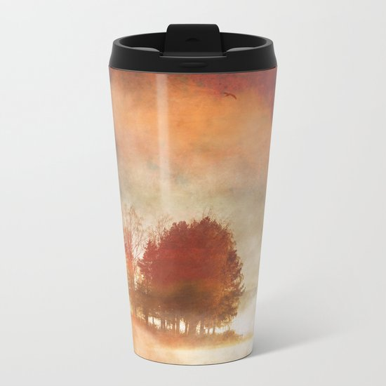 Autumn Mist Metal Travel Mug