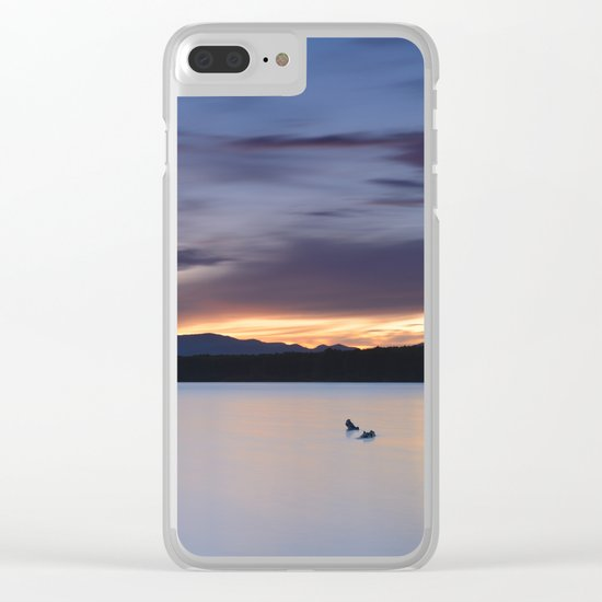 """""""Serenity lake"""". At sunset Clear iPhone Case"""
