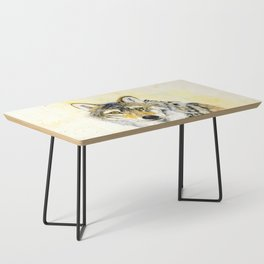 Totem Grey wolf Coffee Table