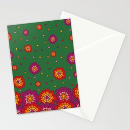 Retro Blooming Stationery Cards