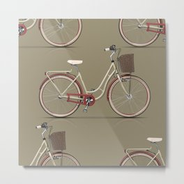Classic bycicle Metal Print