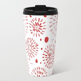 Abstract watercolor sparkles – red Travel Mug