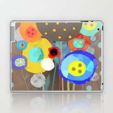 Blue Polka Dots - Ruth Fitta-Schulz Watercolour Art 2017 Laptop & iPad Skin
