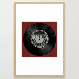 Bioshock Rapture Records Clock Framed Art Print