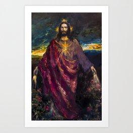 THE LIGHT OF THE WORLD Art Print
