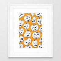 pumpkin Framed Art Prints featuring Pumpkin by Saoirse Mc Dermott