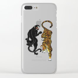 Big Cats Clear iPhone Case