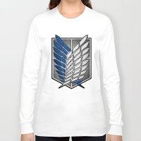 shingeki no kyojin Long Sleeve T-shirts featuring shield of shingeki  by Blaze-chan