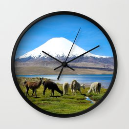 Chungara Lake, Chile Wall Clock