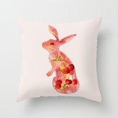 Fruit Bunny Throw Pillow