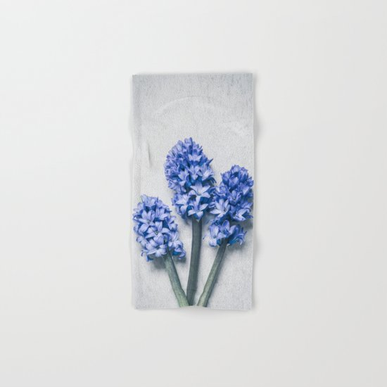 Three Blue Hyacinths Hand & Bath Towel