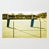 rugby Area & Throw Rugs featuring Rugby by Sébastien BOUVIER