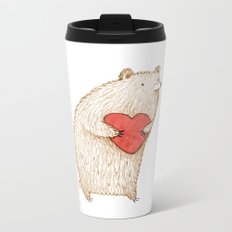 Bear with Heart Metal Travel Mug