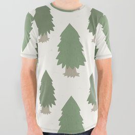 Cut your own Christmas tree (Patterns Please) All Over Graphic Tee