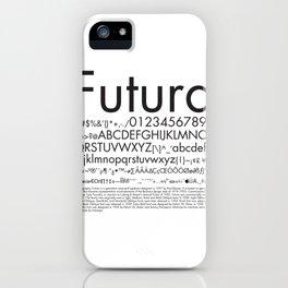 Futura (Black) iPhone Case
