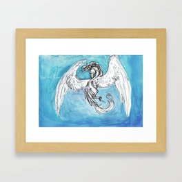 Winged Horse in Watercolor Framed Art Print