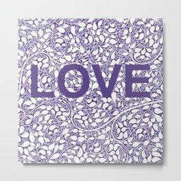 LOVE, ultraviolet Metal Print