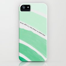 Every Plan is a Tiny Prayer to Father Time - Death Cab for Cutie Watercolor Rainbow iPhone (5, 5s) Slim Case
