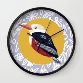 Kingfisher Kenya Bird Wall Clock