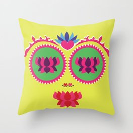 Indian face Throw Pillow