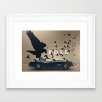 ferrari Framed Art Prints featuring Ferrari by Seventy Two Studio