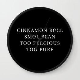 Precious Cinnamon Roll Black Wall Clock