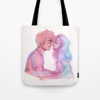 laia Tote Bags featuring Lilac Sky by Laia™