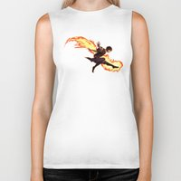 zuko Biker Tanks featuring Fight Fire With Fire by Junryou