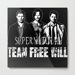 Supernatural Team Free Will B Metal Print