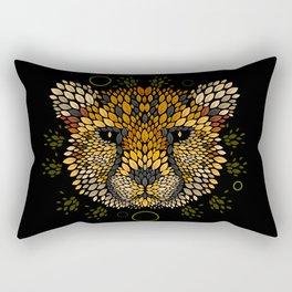 Cheetah Face Rectangular Pillow