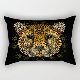 Cheetah Face Rectangular Pillow